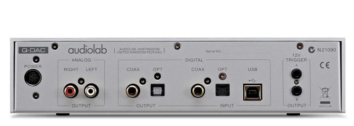 Audiolab Q-DAC aansluitingen